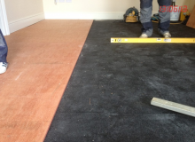 Acoustic Rubber under the floor of a bedroom in Sandycove2