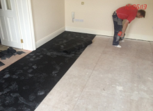 Acoustic Rubber under the floor of a bedroom in Sandycove